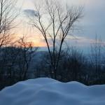 Sunset in the Berkshires in Northwestern Massachusetts, February 2010